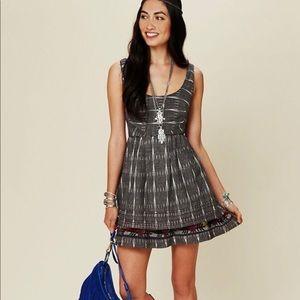Free People New Romantics Grey Tribal Print Dress